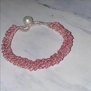 Pink Beaded Bracelet 🌸